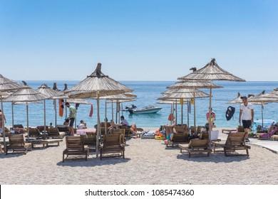 Beach View from Himara - Himara, Vlore / Albania - July 2017