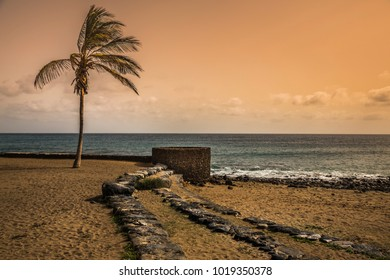 Beach view at Lanzarote, Canary islands, Spain