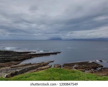 Beach view in Mullaghmoore head, Sligo, Ireland.