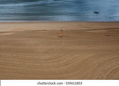 Beach view in Santander, Cantabria, Spain.