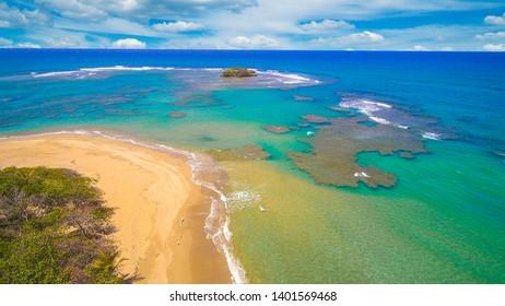 Beach of Villa Montellano from above