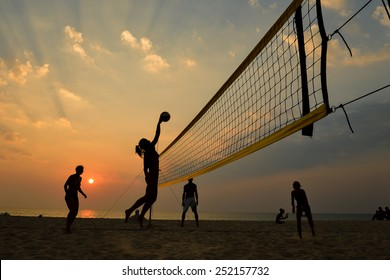 Beach Volley Silhouette High Res Stock Images Shutterstock