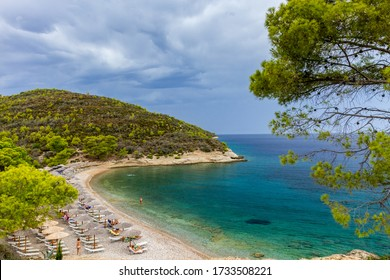 Beach of Vrellos, in Spetses island, in Greece.