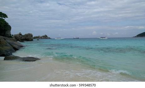 beach, wave