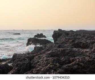 Beach Waves of Goa, India