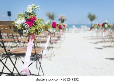Summer Wedding Decor By Beach Images, Stock Photos & Vectors ...