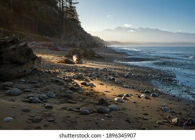 A beach in Western Washington State