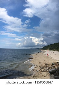 The beach at Wildwood State Park on the Long Island Sound in Wading River, New York.