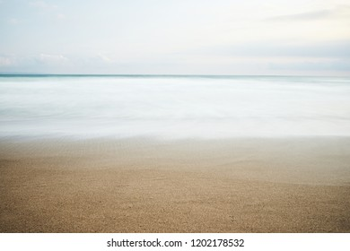 Beach without people