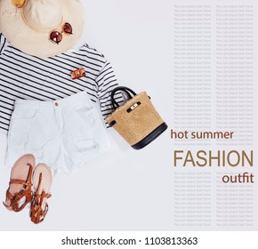 Beach woman outfit for hot summer days
