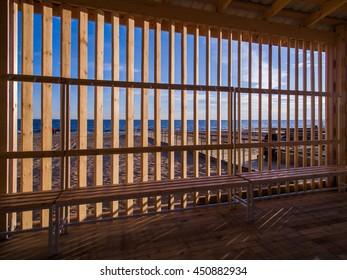 Beach wooden area