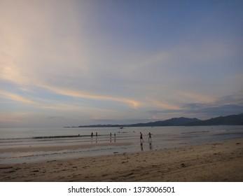 BEACH/EL NIDO/SABANG/PHILIPPINES-OCTOBER 2012: Palawan beach is wild