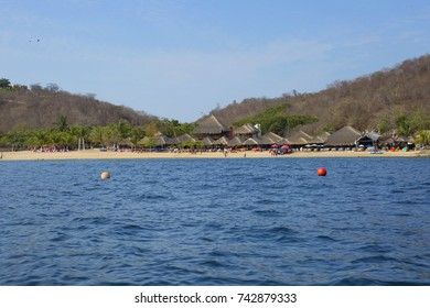 The Beaches Of Huatulco.Bay Huatulco is a picturesque Paradise with amazing mountains, slopes, valleys and luxuriant vegetation, beautiful beaches.