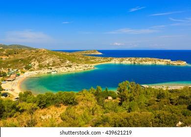 Beaches of Kusadasi in Aegean Sea, Turkey