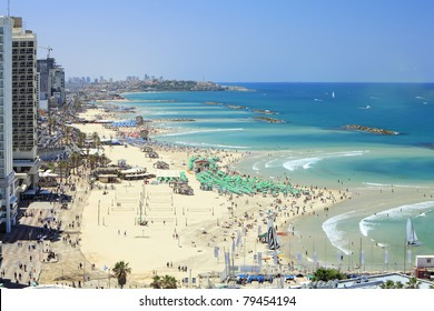 Beaches of Tel-Aviv (Mediterranean sea. Israel)