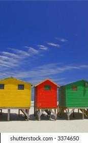 beachfront huts on beach