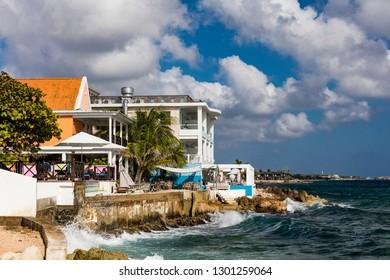 Beachfront resorts and restaurants in Willemstad, Curacao