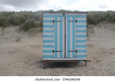 beachhouse on the beach near the north sea
