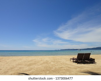 BEACH/SABANG/PALAWAN/PHILIPPINES-OCTOBER 2012: Palawan beach is wild