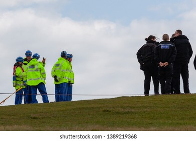Beachy Head, Sussex, UK. 5th May 2019.  Coastguard crews and Police search Beachy Head.
