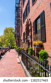 Beacon hill neighborhood in Boston Massachusetts