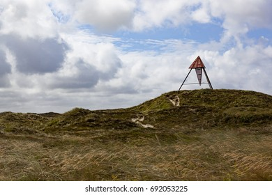 Beacon at the national park  in Denmark