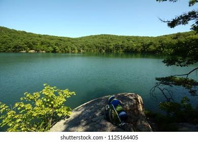 Beacon Reservoir On Mount Beacon in New York