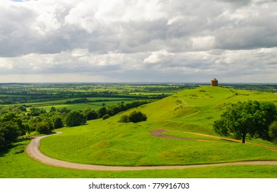 the beacon tower on Burton Dassett hills in Warwickshire,England