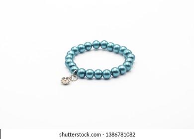 ็Handmade  bead bracelet / stone bracelet/ Lucky bracelet on white background