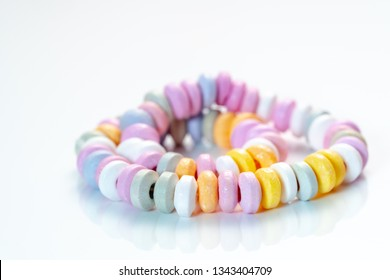 Beads candy on a white background