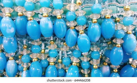Beads for curtain decorations sells at shop