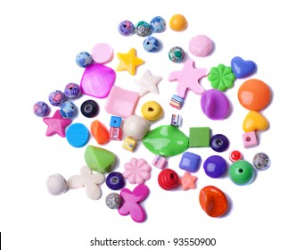 Beads isolated on white