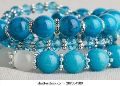 Beads jewelry - Stock Image macro.