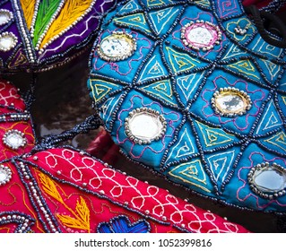 Beads Patterned Fashion Bags By Indian Street Vendor