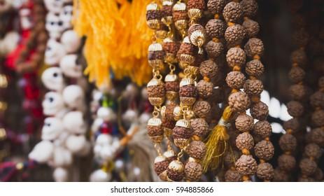 Beads of rudraksh in Varanasi