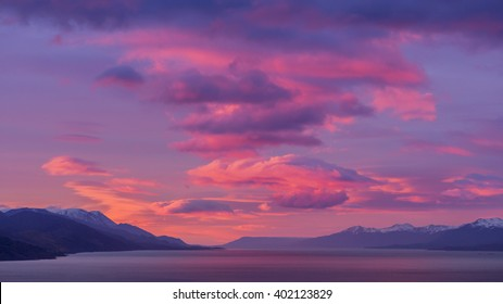 Beagle Channel. Ushuaia. Sunrise. Sunrise. Argentina. Jul 2014