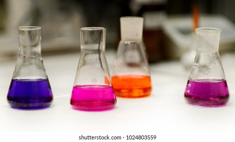 The beaker in the chemical laboratory
