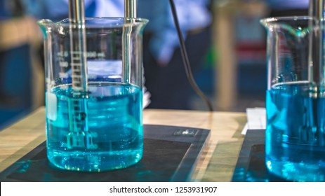 Beaker In Science Laboratory