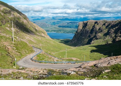 The Bealach na Ba (Pass of the Cattle), part of the North Coast 500 scenic route around the north coast of Scotland.
