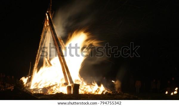 Bealtaine Fire Festival Uisneach Westmeath Ireland