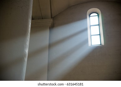 Beam of light in the orthodox Church.