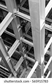 beam steel structure in column