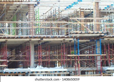 beams construction site building structure city development