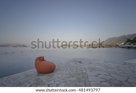 Terrific Bean Bag Kas Resort Turkey Stock Photo Edit Now 481493797 Frankydiablos Diy Chair Ideas Frankydiabloscom