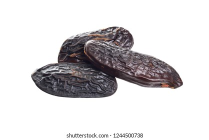 Bean of Dipteryx odorata, cumaru or kumaru. Its seeds are known as tonka beans, sometimes tonkin beans or tonquin beans. Full depth of field.