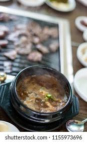 bean paste stew of korea food