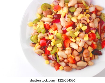 Bean salad is a hearty and delicious vegan meal or side dish for the vegetarians attending your holiday festivities