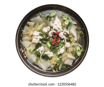 Bean sprouts soup with dried pollack