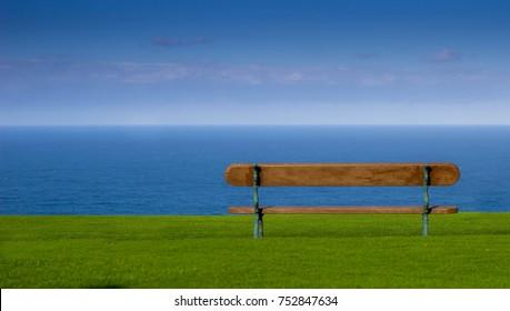 Beanch overlooking the Atlantic in Spain