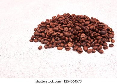 beans coffee on white wood